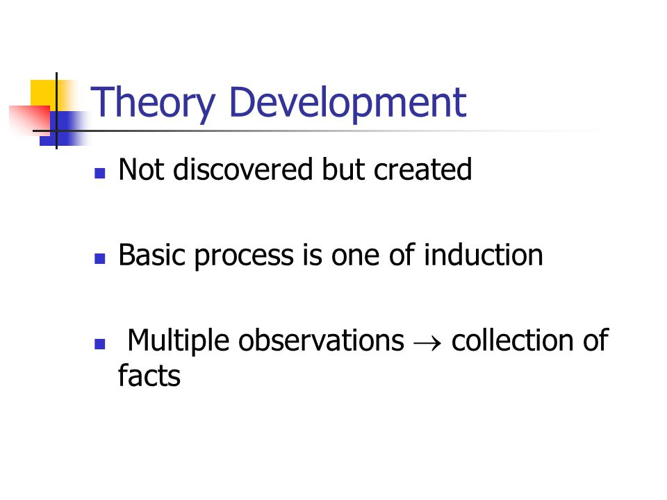 Theory Development Not discovered but created