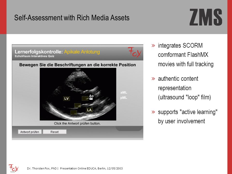 Self-Assessment with Rich Media Assets