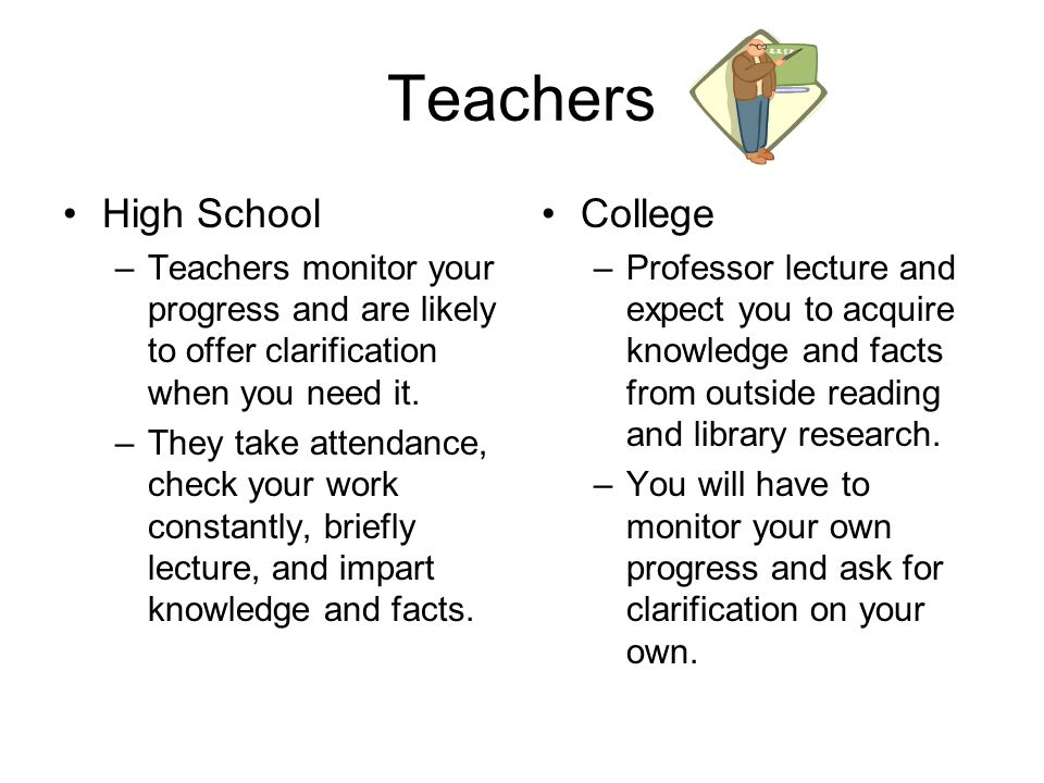How high school is different from college ppt video online download teachers high school college ccuart Choice Image