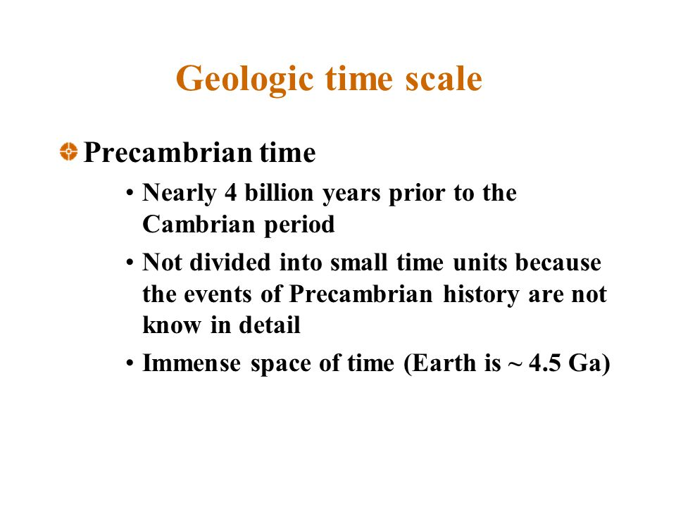 Geologic time scale Precambrian time