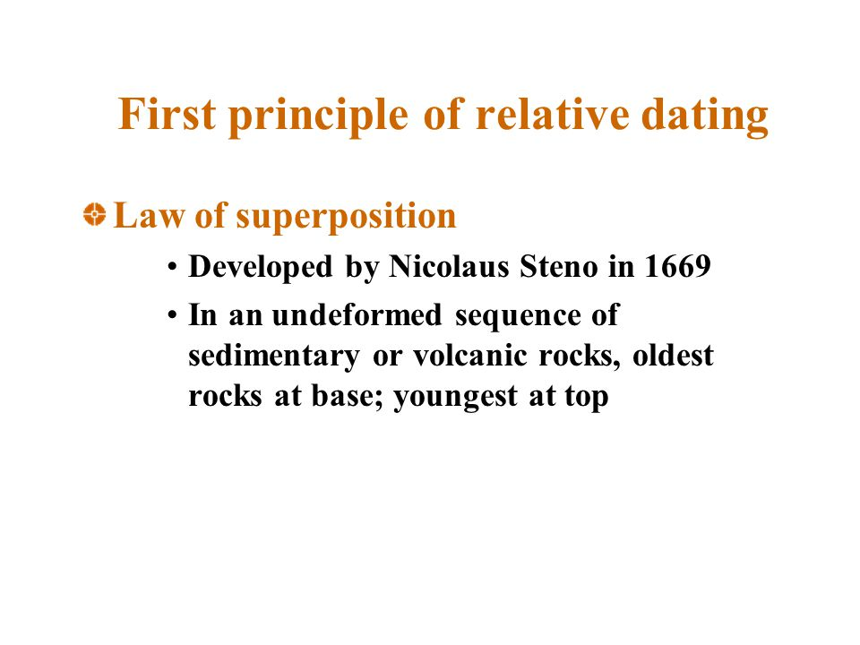 First principle of relative dating