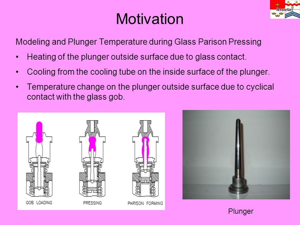 Motivation Modeling and Plunger Temperature during Glass Parison Pressing. Heating of the plunger outside surface due to glass contact.