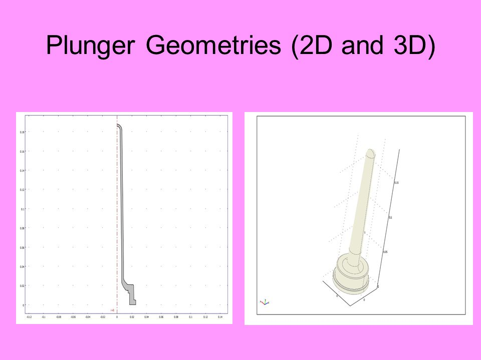 Plunger Geometries (2D and 3D)