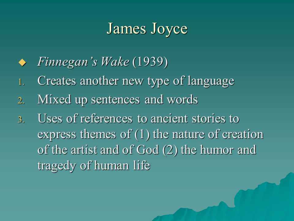 James Joyce Finnegan's Wake (1939)