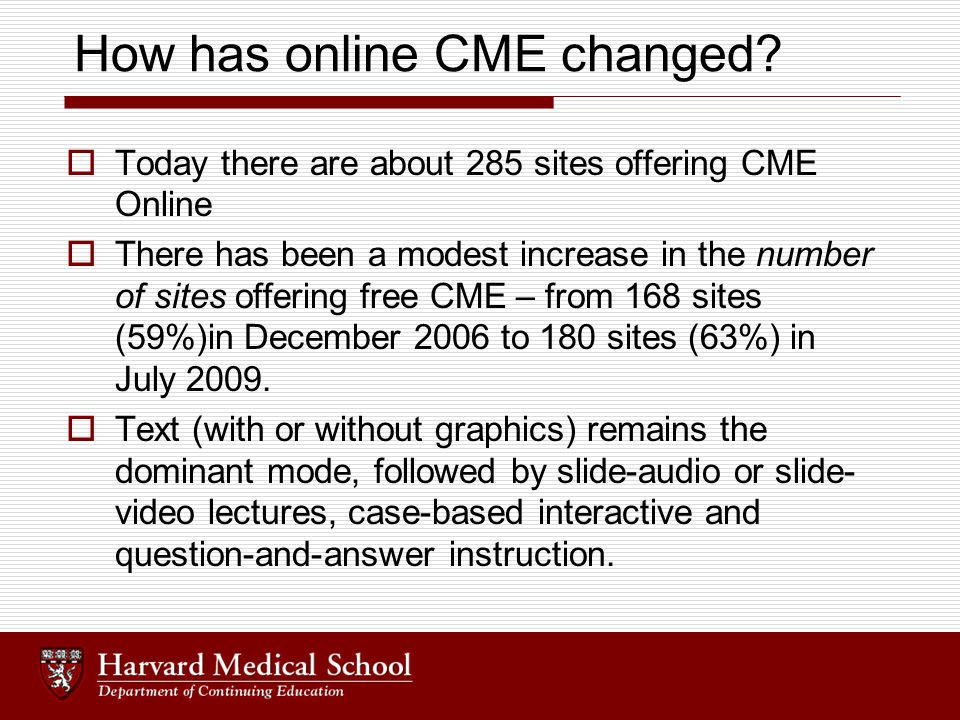 Continuing Medical Education Online - ppt download