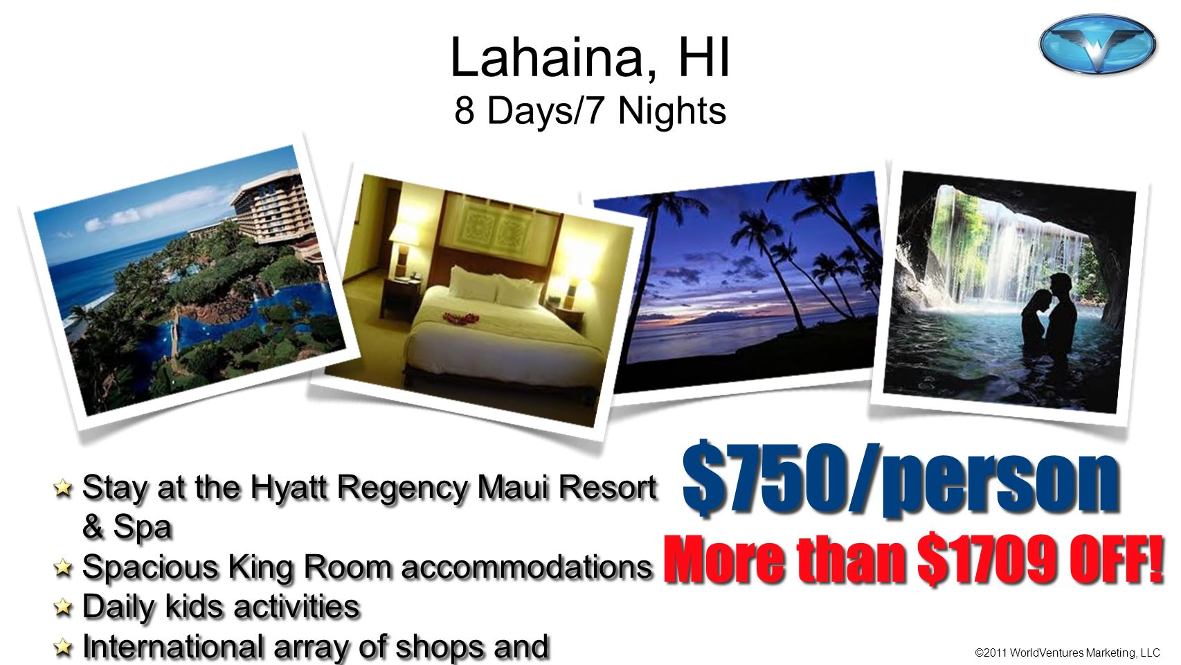 $750/person More than $1709 OFF! Lahaina, HI 8 Days/7 Nights