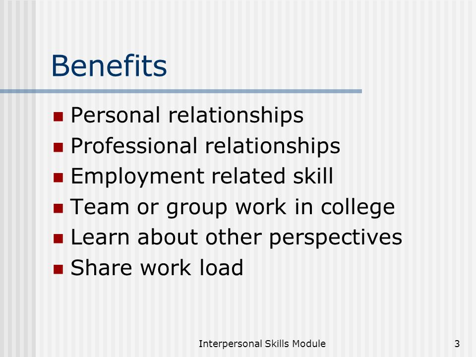 Interpersonal Skills Presentation Notes For Ppt Download