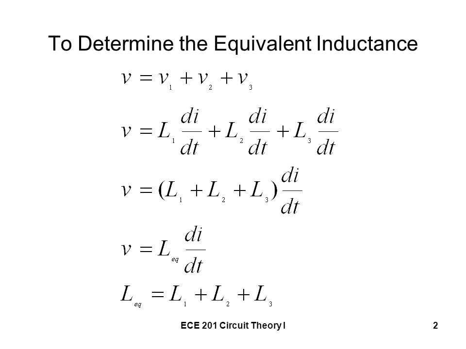 To Determine the Equivalent Inductance