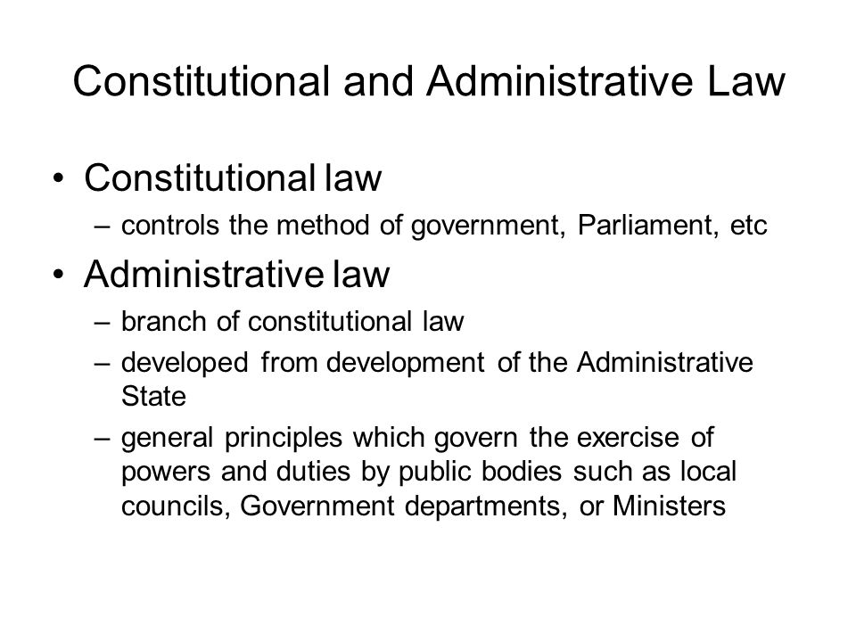 Method and subject of constitutional law