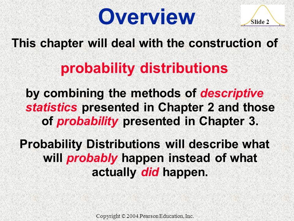 Overview probability distributions