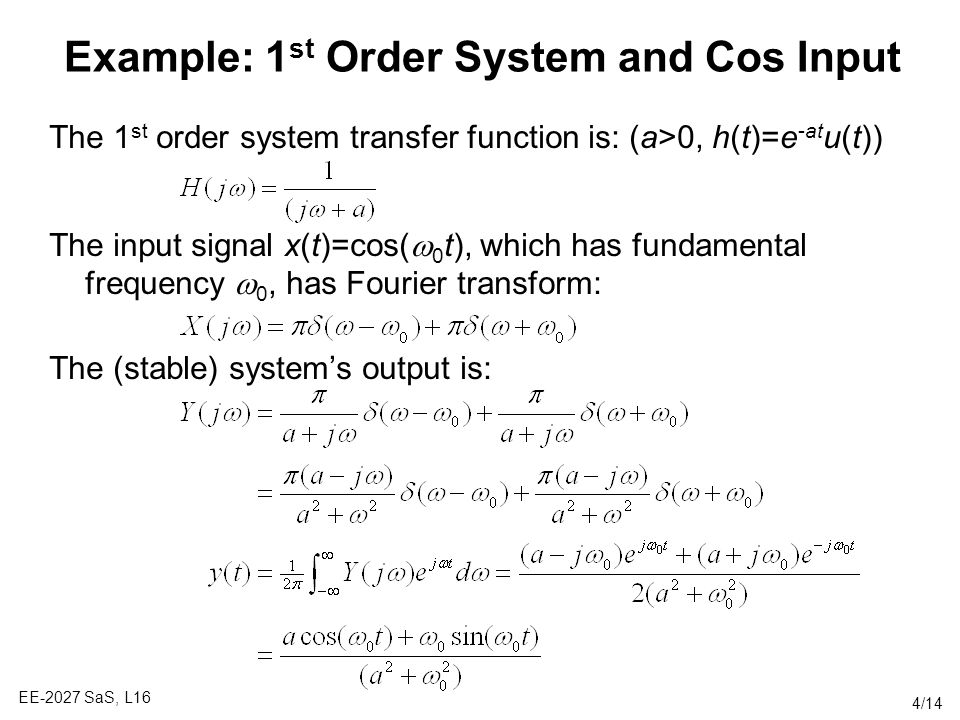 Example: 1st Order System and Cos Input