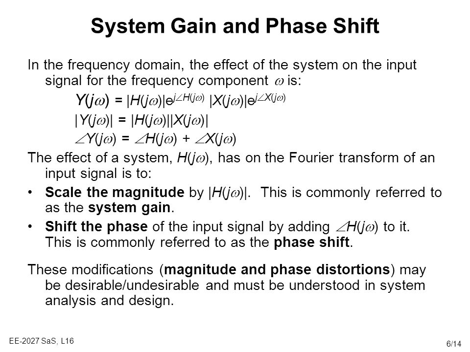 System Gain and Phase Shift