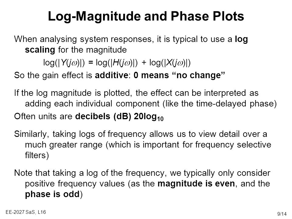 Log-Magnitude and Phase Plots
