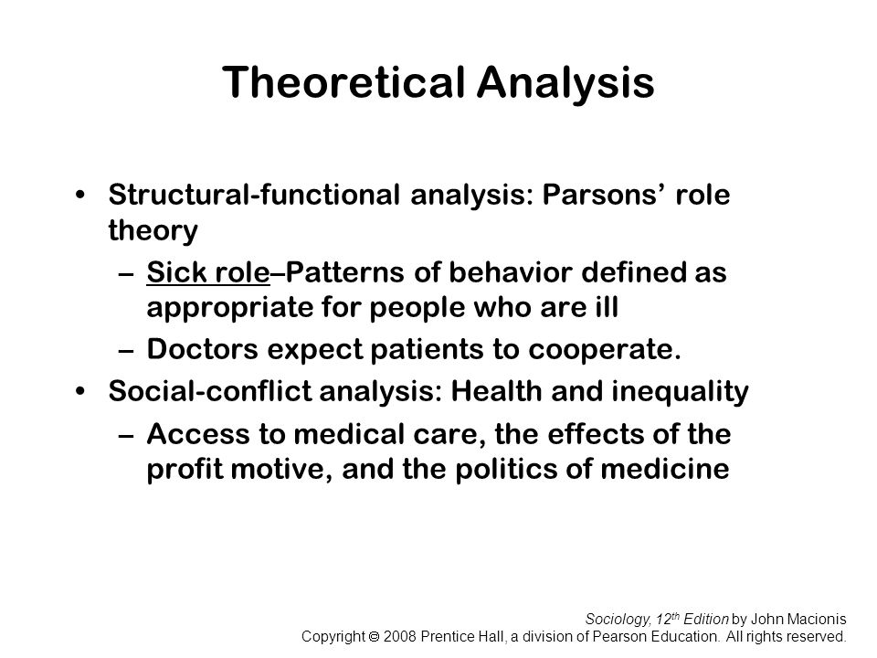 parsons sick role theory