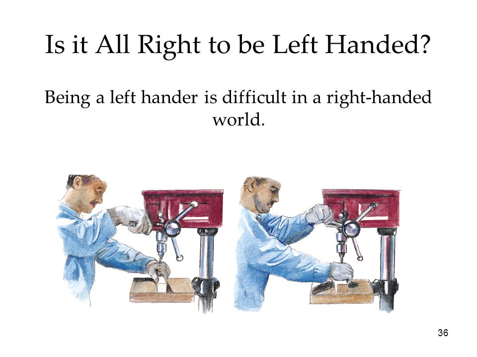 Is it All Right to be Left Handed