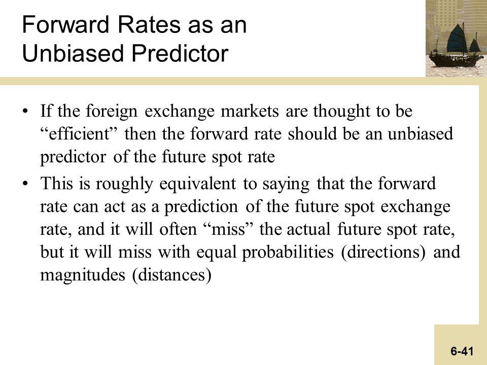 unbiased forward rate