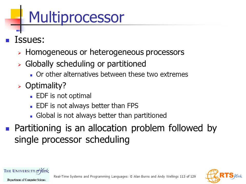 Multiprocessor Issues: