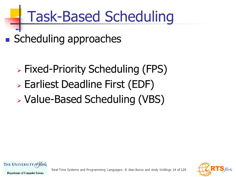 Task-Based Scheduling