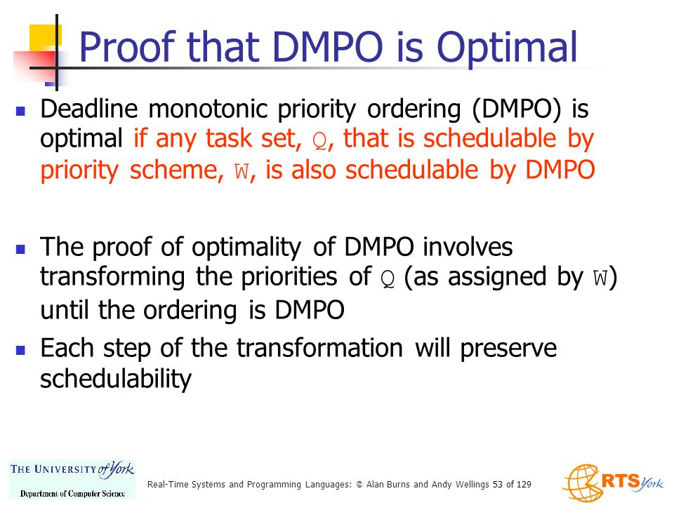 Proof that DMPO is Optimal