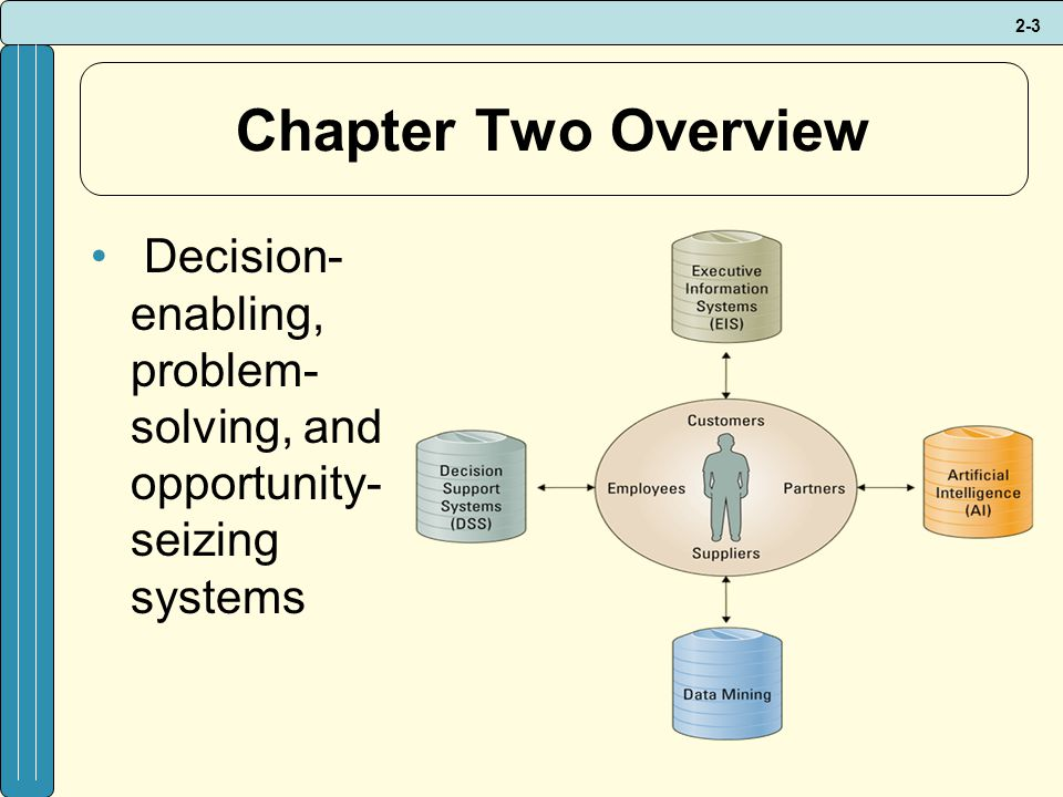 Chapter Two Overview Decision-enabling, problem-solving, and opportunity-seizing systems