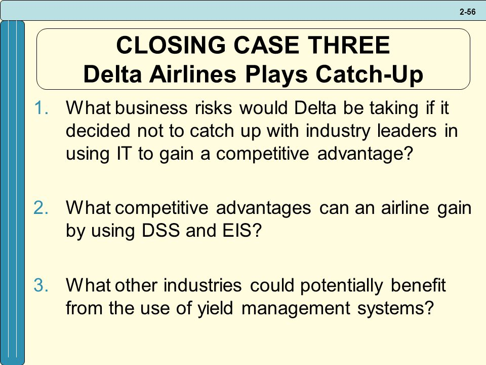 CLOSING CASE THREE Delta Airlines Plays Catch-Up
