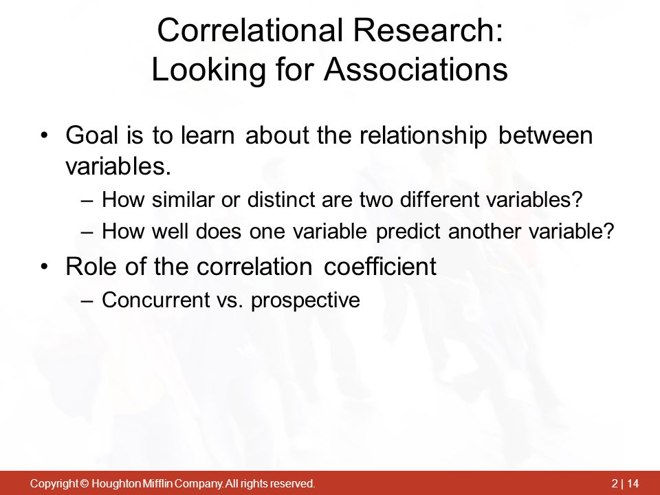 Correlational Research: Looking for Associations