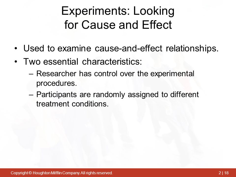 Experiments: Looking for Cause and Effect