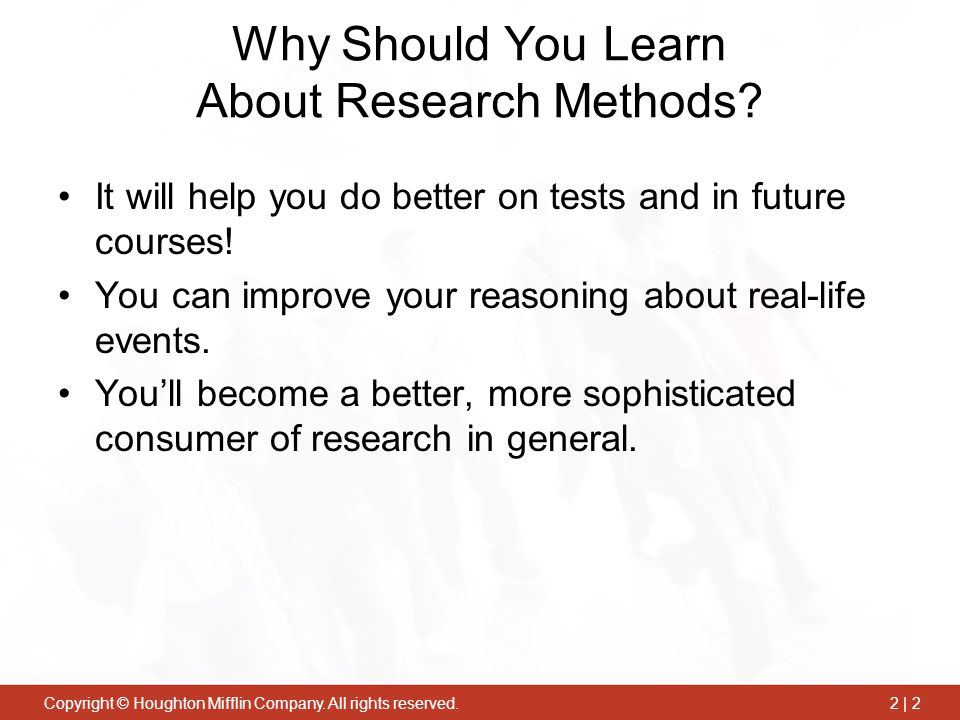 Why Should You Learn About Research Methods