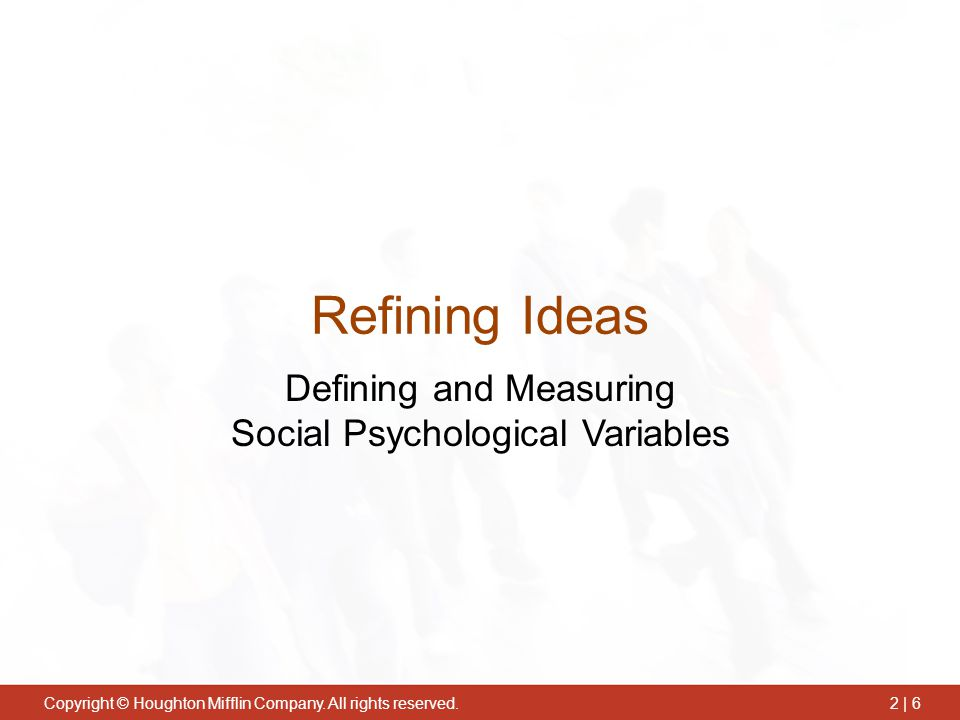 Defining and Measuring Social Psychological Variables