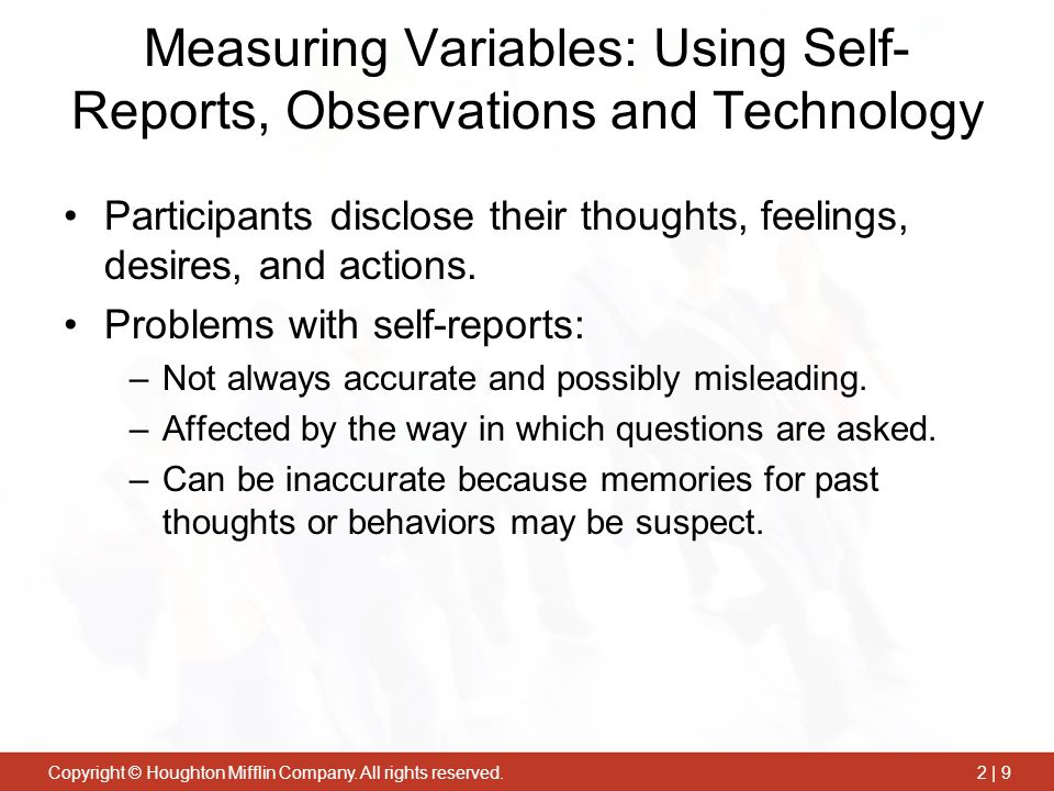 Measuring Variables: Using Self-Reports, Observations and Technology