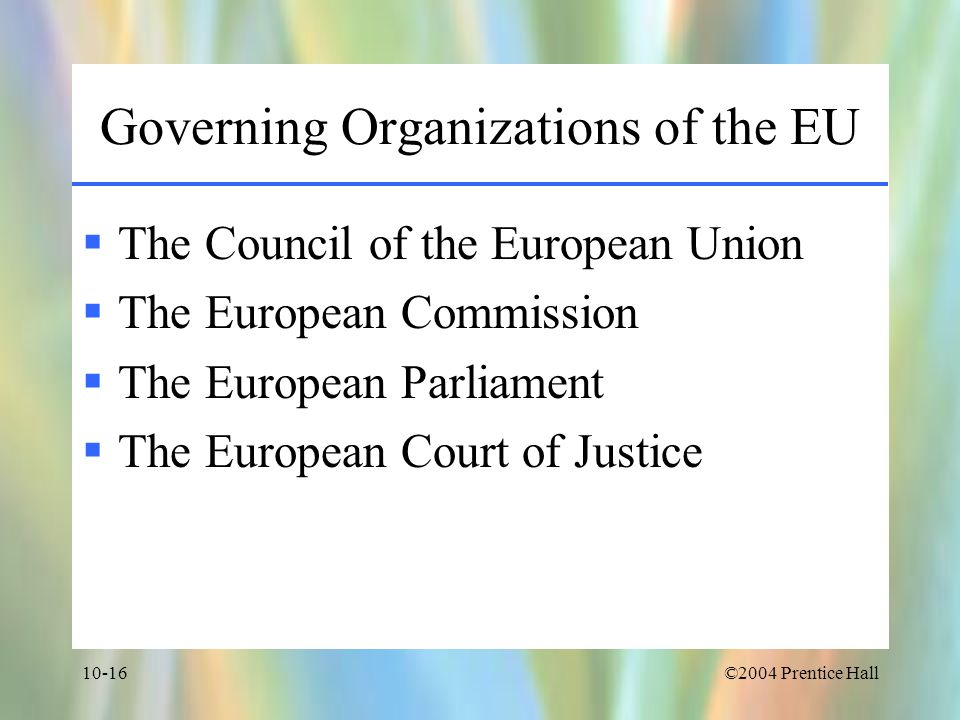 Governing Organizations of the EU