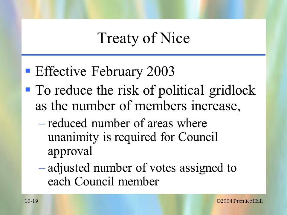 Treaty of Nice Effective February 2003