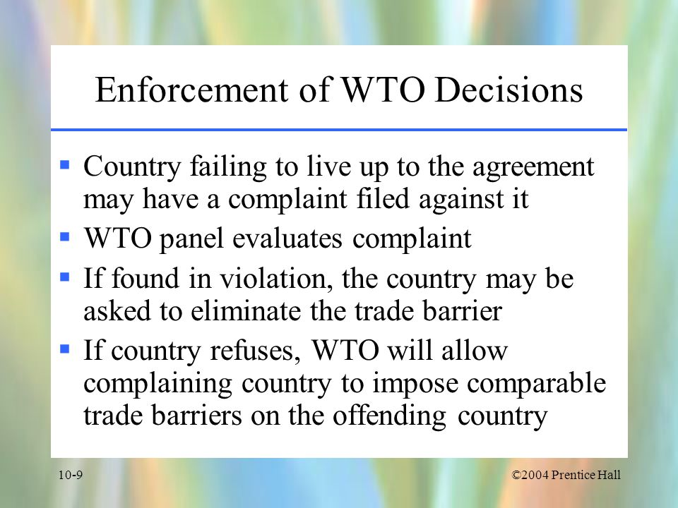 Enforcement of WTO Decisions