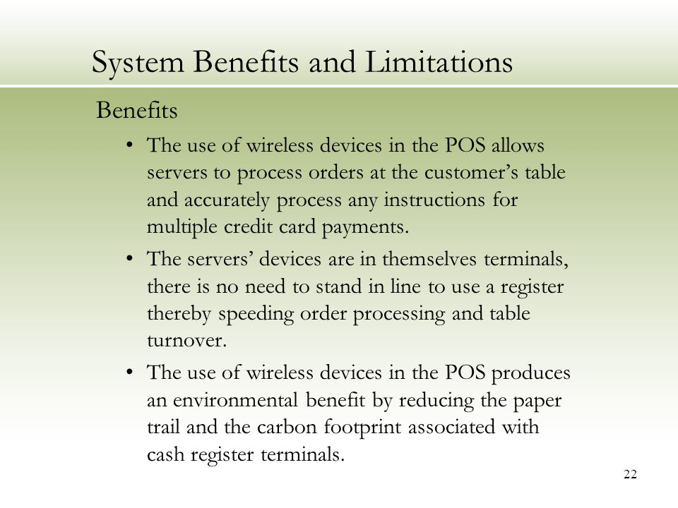 what are the advantages and disadvantages of the new pos system?