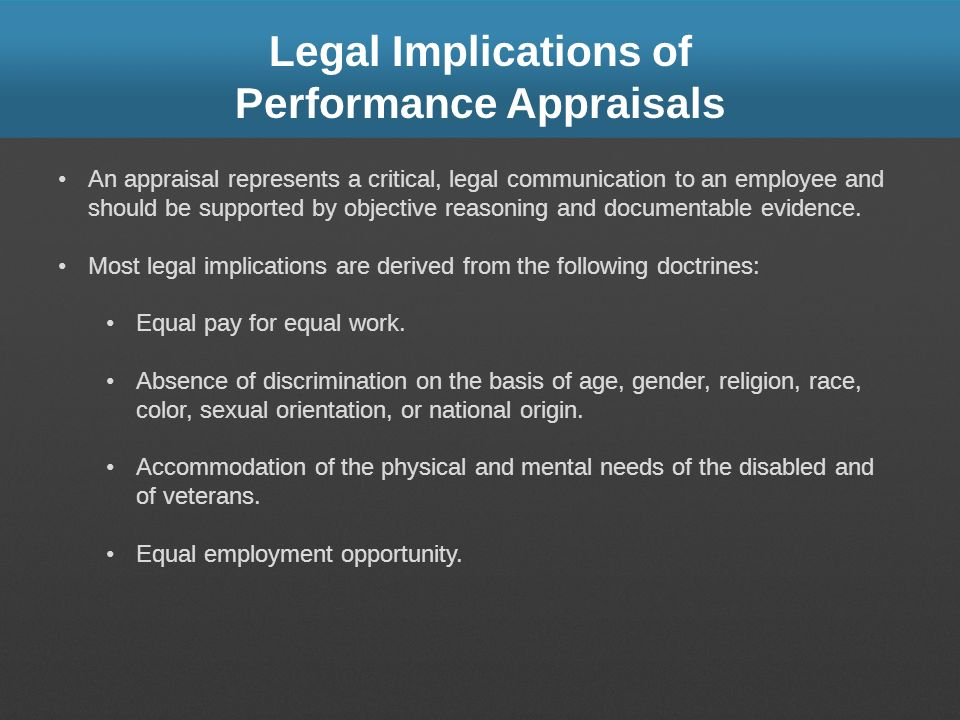 Legal Implications of Performance Appraisals