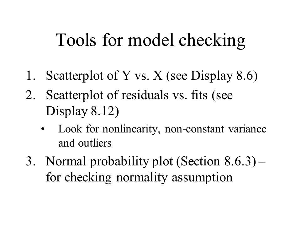 Tools for model checking