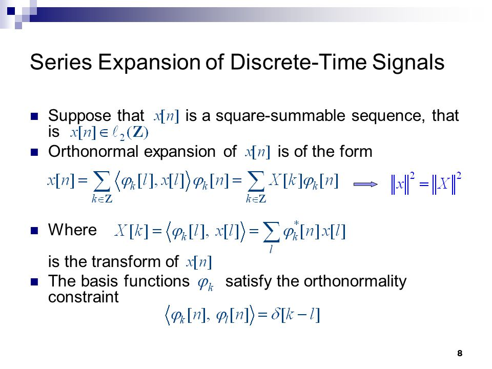Series Expansion of Discrete-Time Signals