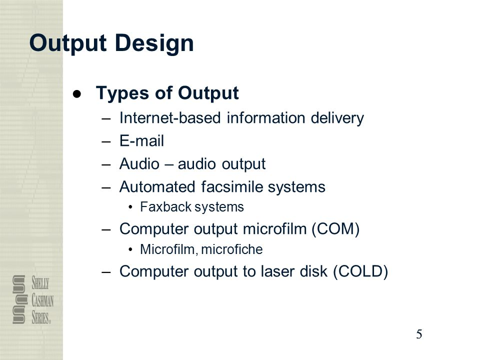 Output And User Interface Design Ppt Video Online Download