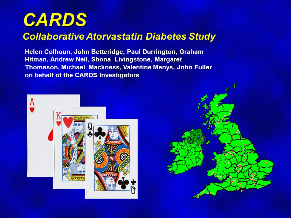 CARDS Collaborative Atorvastatin Diabetes Study