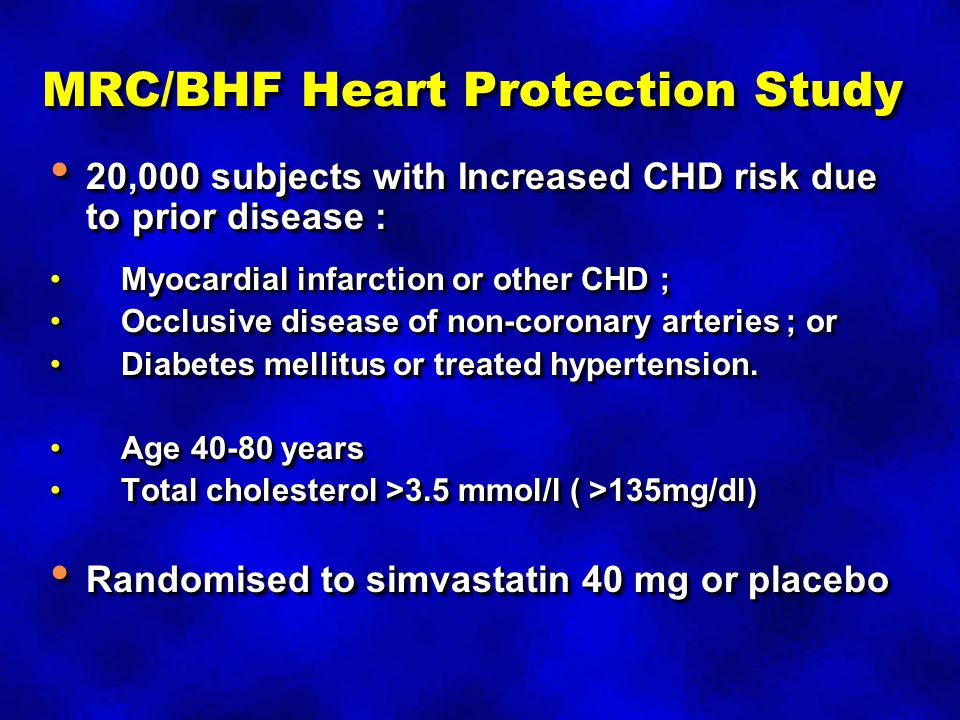 MRC/BHF Heart Protection Study