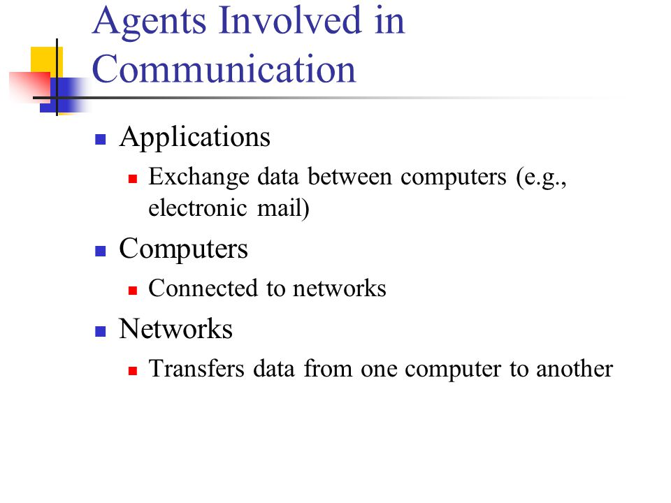 Agents Involved in Communication
