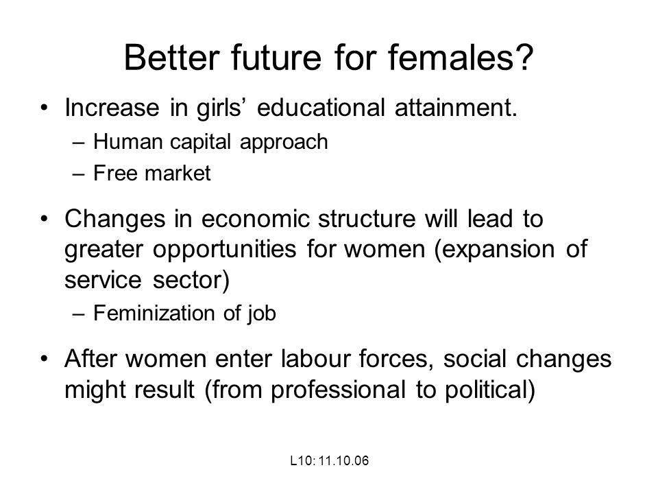 Better future for females