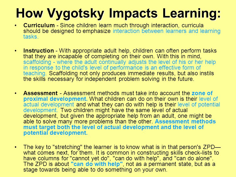 How Vygotsky Impacts Learning: