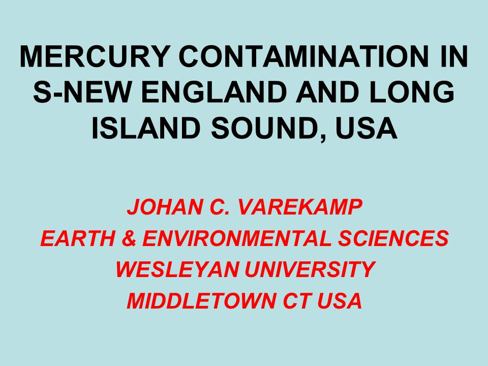 Long Island Sound Contamination