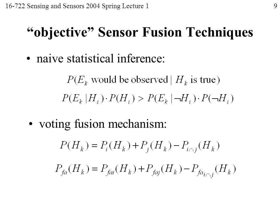 16722 Sensing and Sensors Mel Siegel ) - ppt video online download