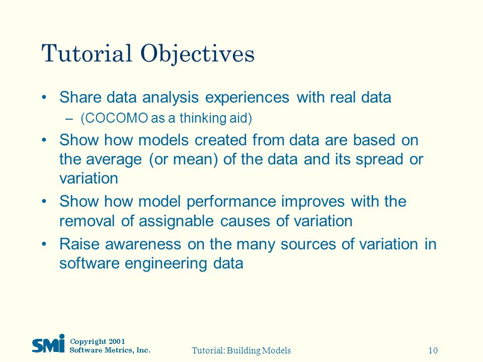 Building Models from Your Software Data - ppt download