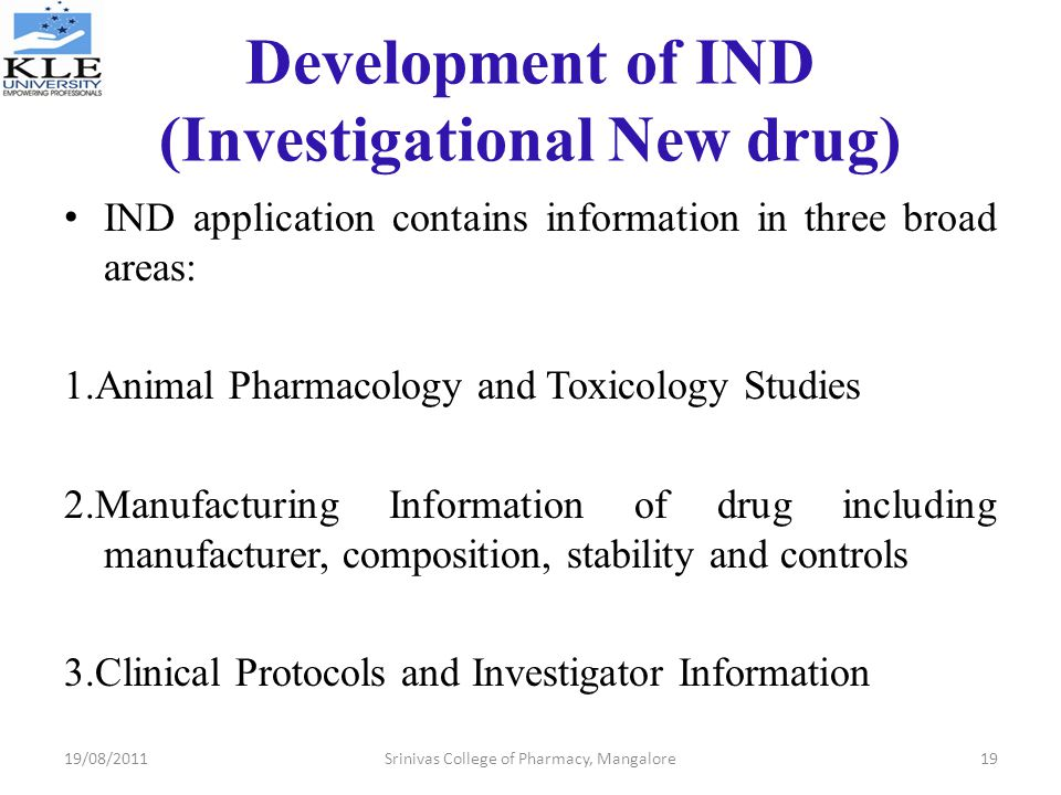 Development of IND (Investigational New drug)