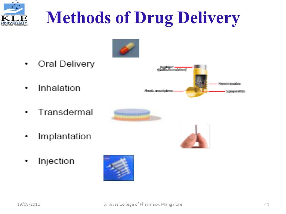 Methods of Drug Delivery