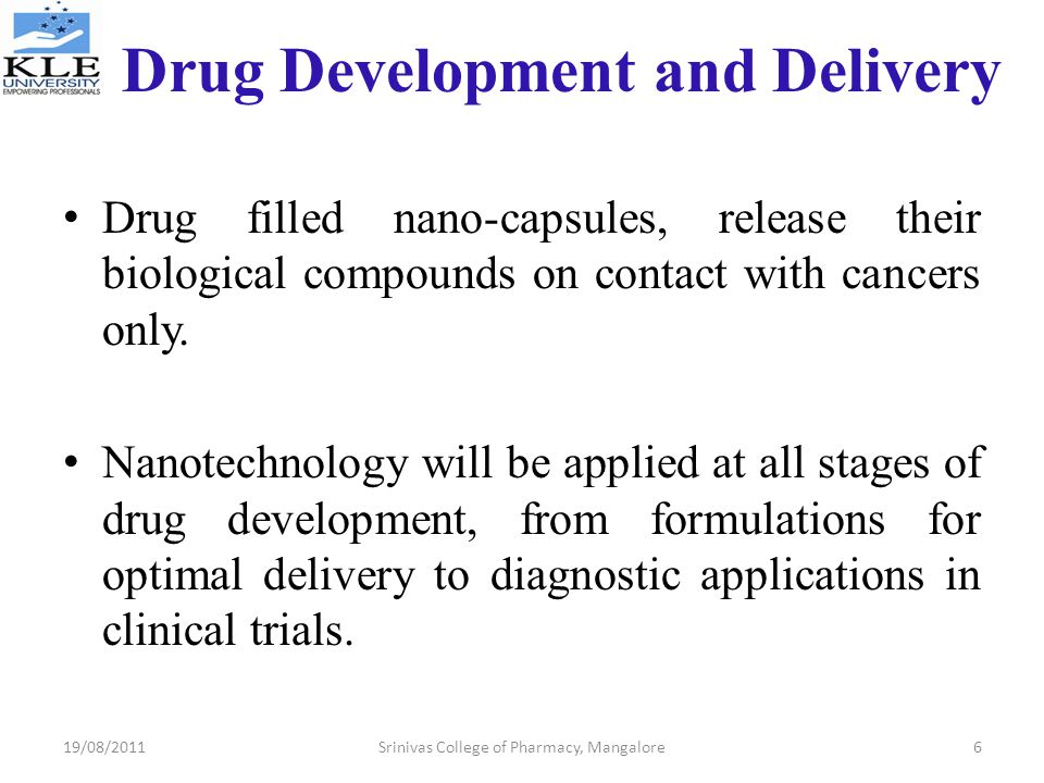 Drug Development and Delivery