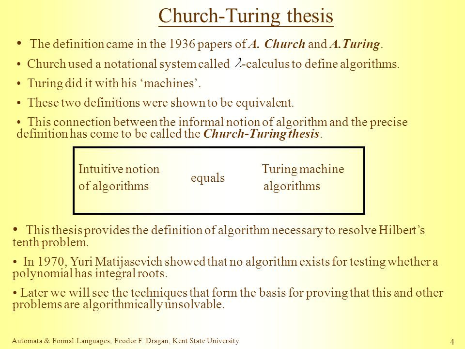 Church-turing thesis definition career resume svc